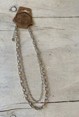 Wink Layered Chain Necklace - Gold & Silver