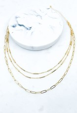 Wink Chain and Bar Layered Necklace