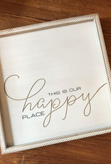 Wink Wood Routed Art Frame-This Is Our Happy Place