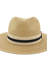 Wink Straw Hat with Striped Hat Band