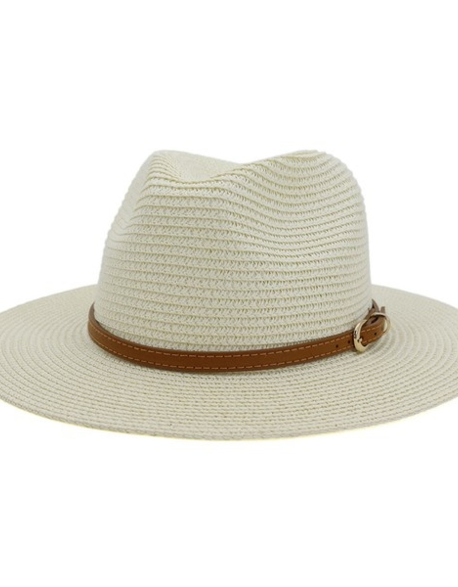 Wink Straw Hat with Leather Hat Band