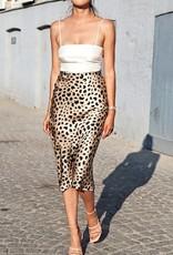 Wink Leopard Satin Midi Skirt