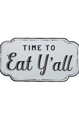Wink Time To Eat Y'all Enamel Sign
