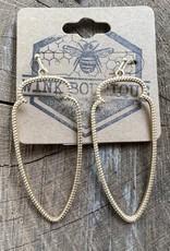 Wink Golden Arrow Drop Earrings