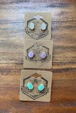 Wink Druzy Stud Earrings