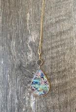 Wink Abalone Tear Drop Necklace