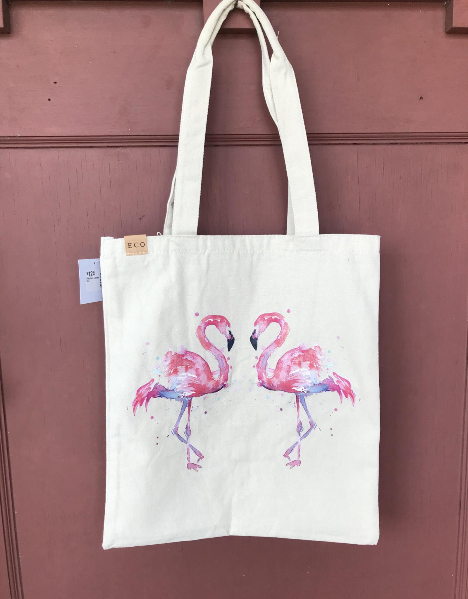 Wink Flamingo  Canvas Bag