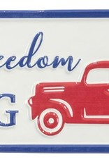 Wink Let Freedom Ring Red Truck Sign