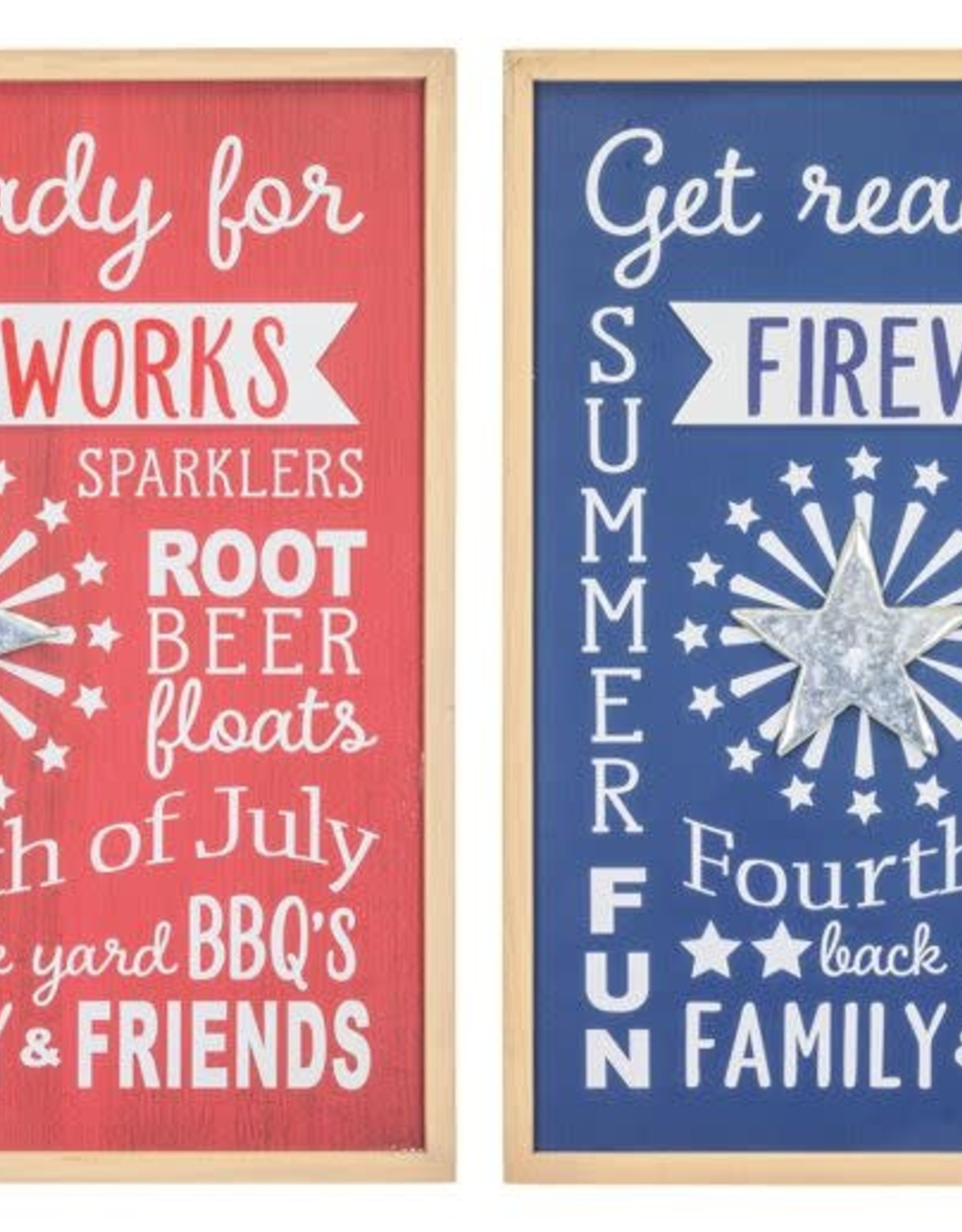 Hanna's Handiworks Family Friends Fireworks Sign