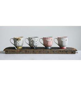 Wink Stoneware Mug w/Tea Bag Holder