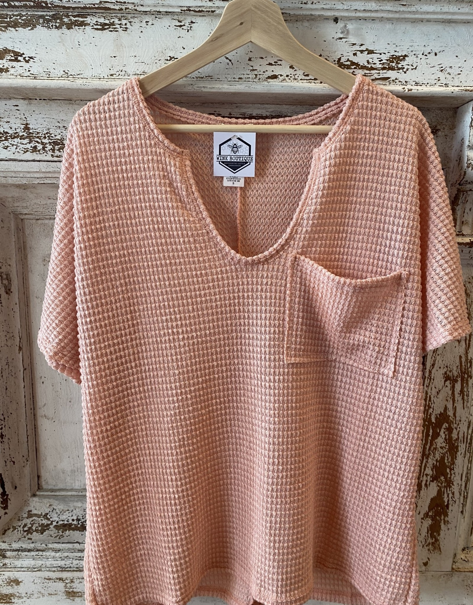 Wink Waffle Top Rose