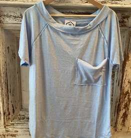 Wink Triblend Knit Shirt-Blue