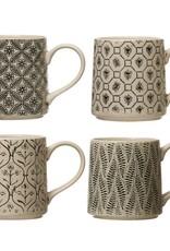 Wink Stoneware Black & Cream Mug