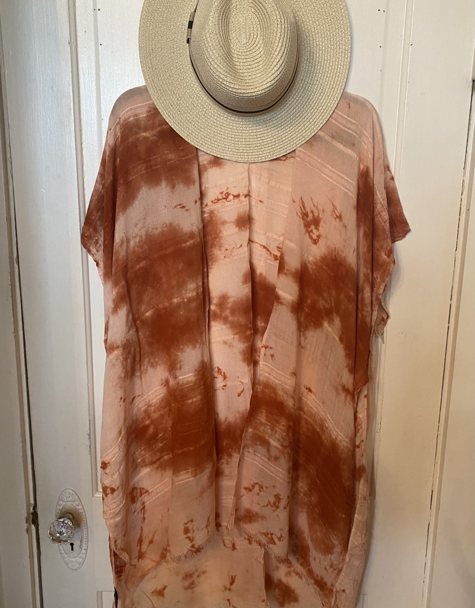 Wink Tie Dye Kimono Rust