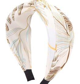 Wink Cream Feather Printed Headband