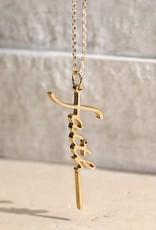 "Wink Brass ""faith"" Letter Word Pendant Necklace"