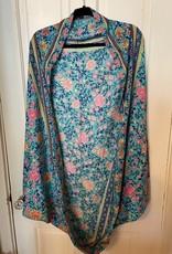 Wink Floral Border Printed Cocoon Kimono