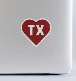 Wink TX Heart Sticker