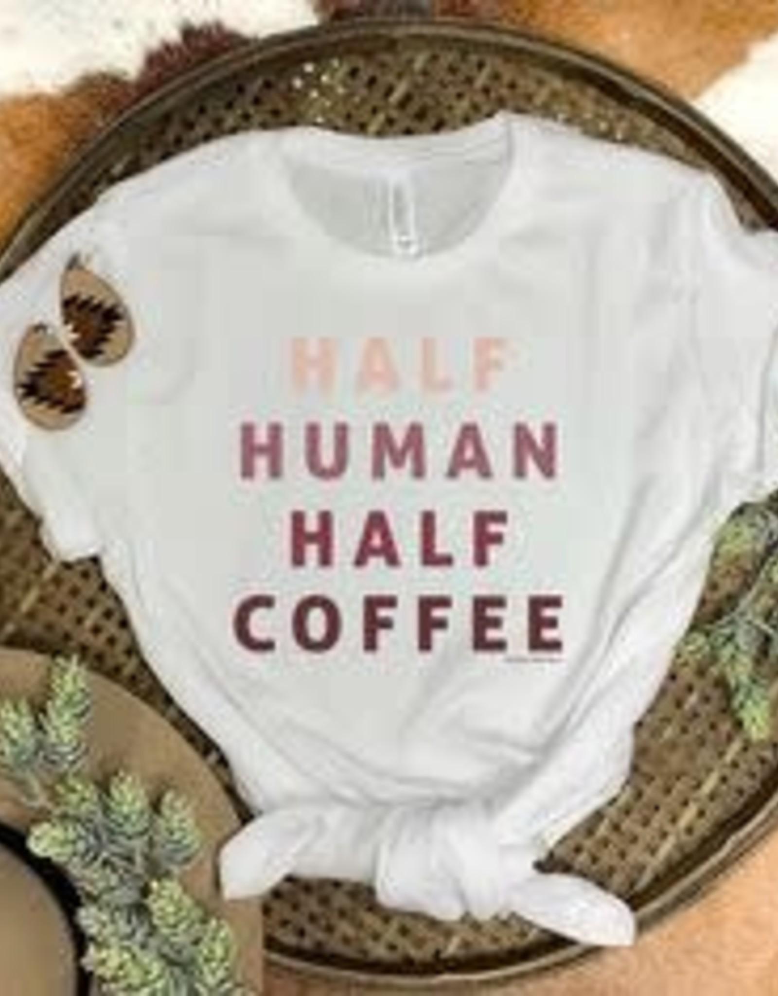 Wink Half Human Half Coffee Tee
