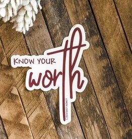 Wink Know Your Worth Sticker