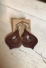 Wink Luna Wooden Earrings-Brown