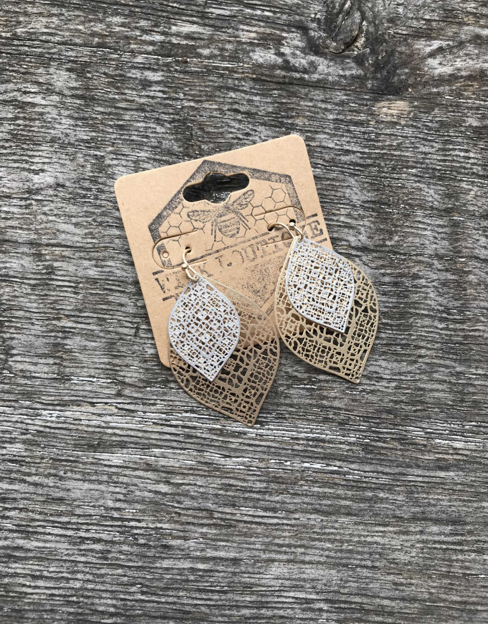 Wink Lauren Layered Leaf Earrings