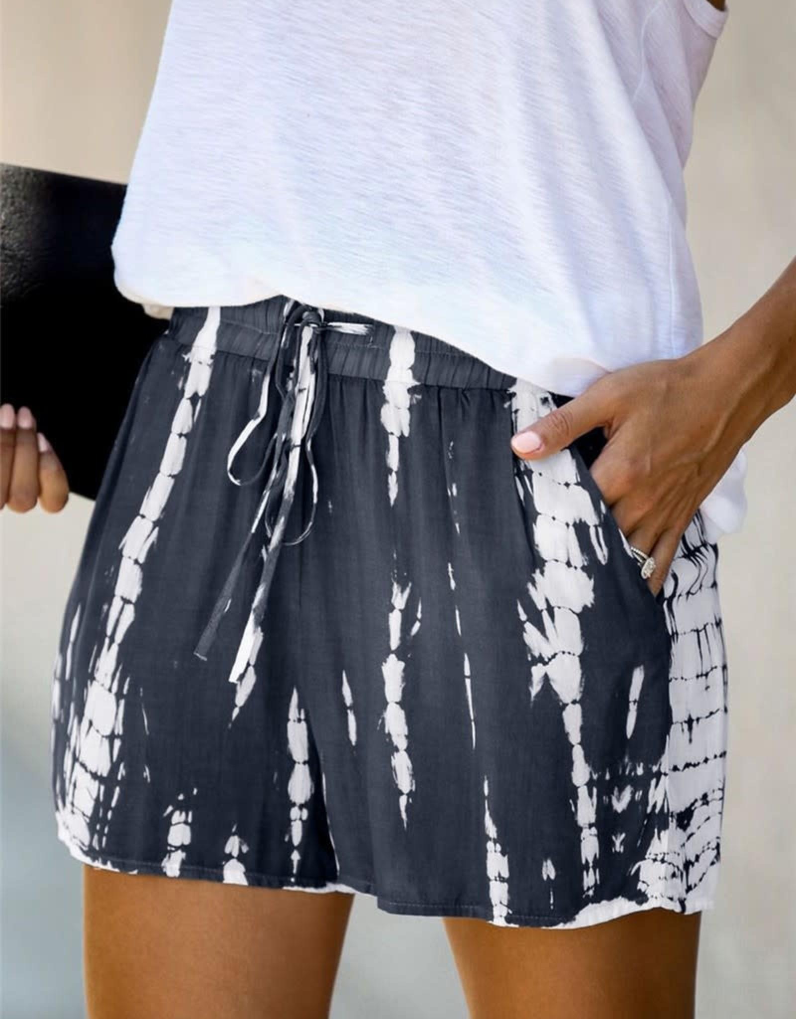 Wink Charcoal Tie Dye Shorts