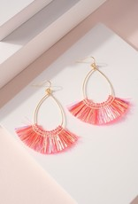 Wink Shimmer and Shine Coral Tassel Earrings