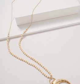 Wink The Boho Beaded Necklace with Horn pendant