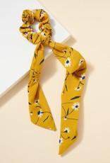 Wink Mustard Floral Print Scrunchie