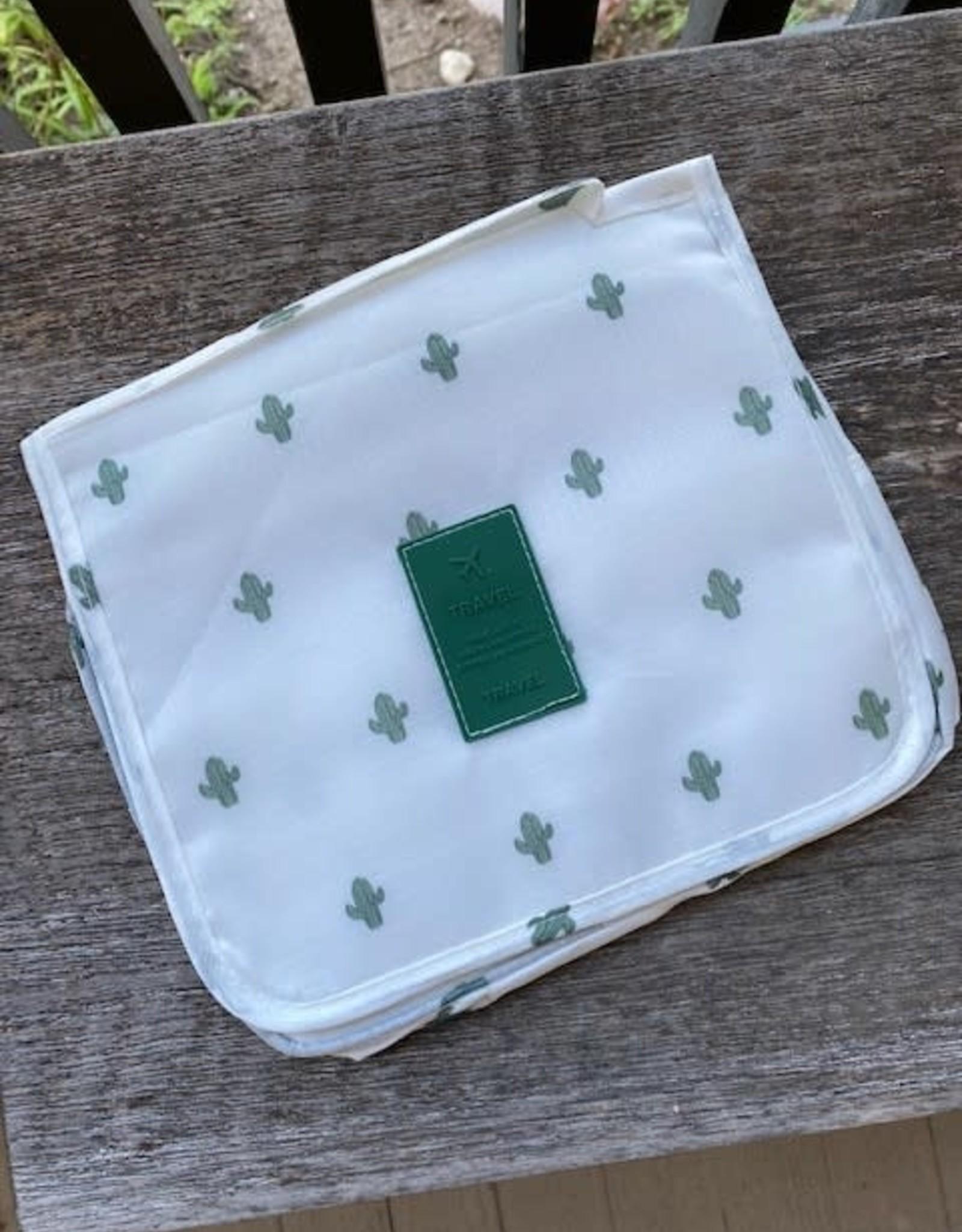 Wink Hangable Cosmetic Bag - Cactus