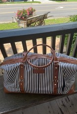 Wink Black Stripe  Canvas Weekender Bag