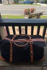 Wink Black Canvas Weekender Bag