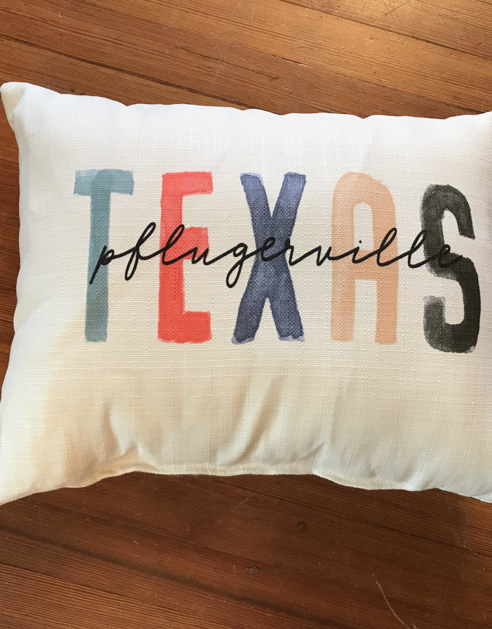 Wink Pflugerville Texas Pillow - Bright