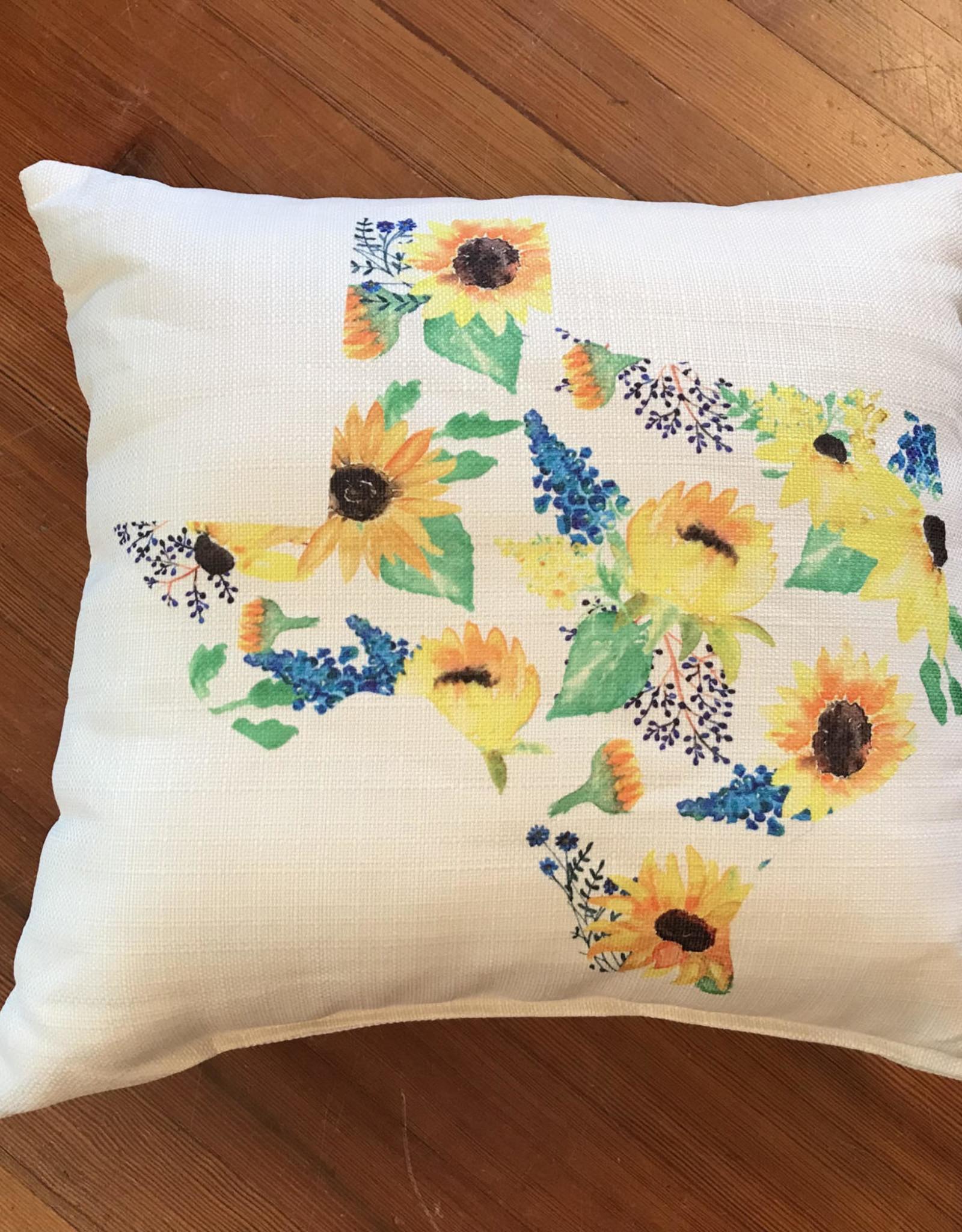Wink Texas Sunflower Pillow