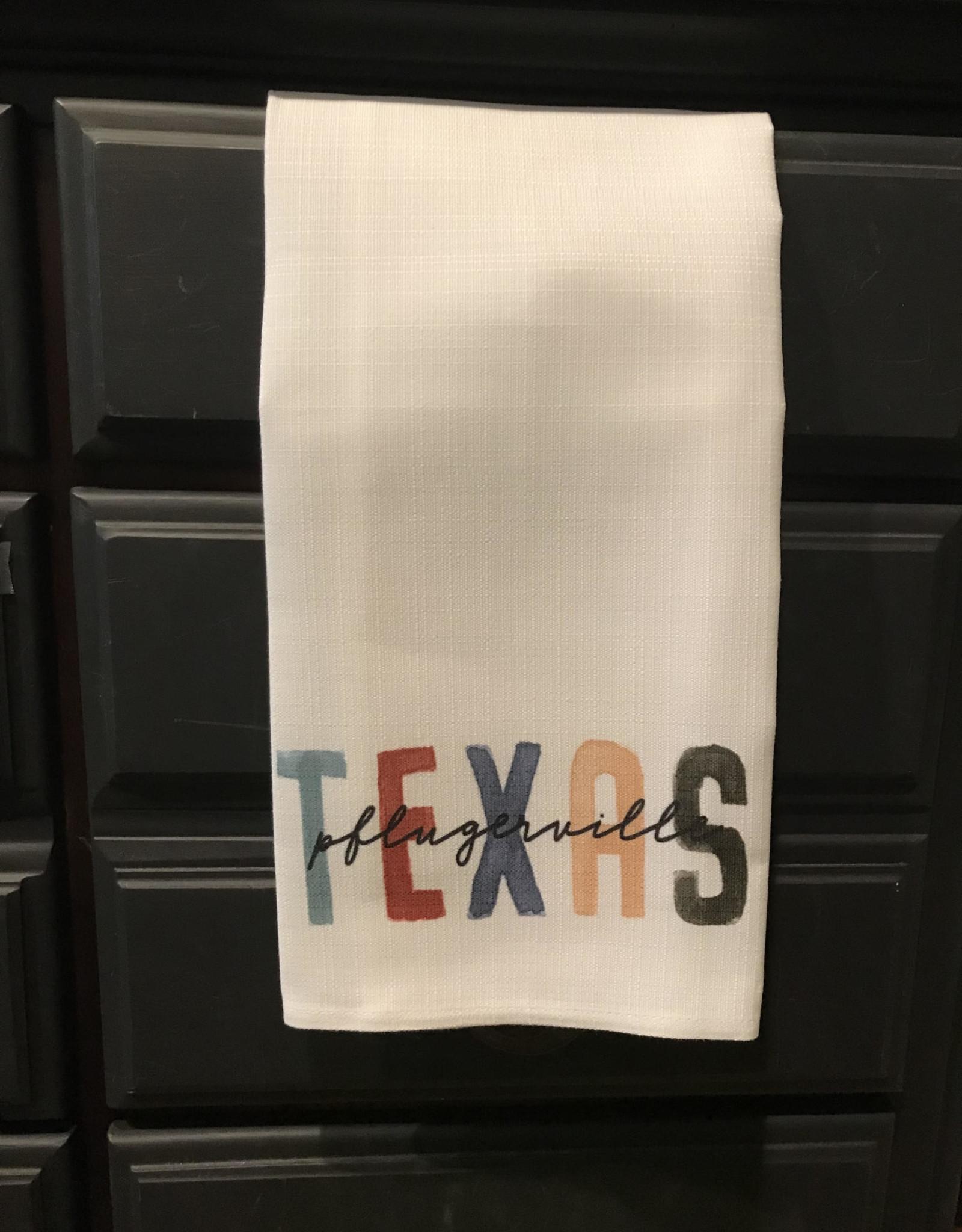 Wink Pflugerville Texas Tea Towel-Earth Tones