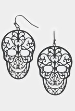 Wink Day of the Dead Skull Earrings