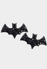 Wink Stone Embellished Bat Stud Earrings
