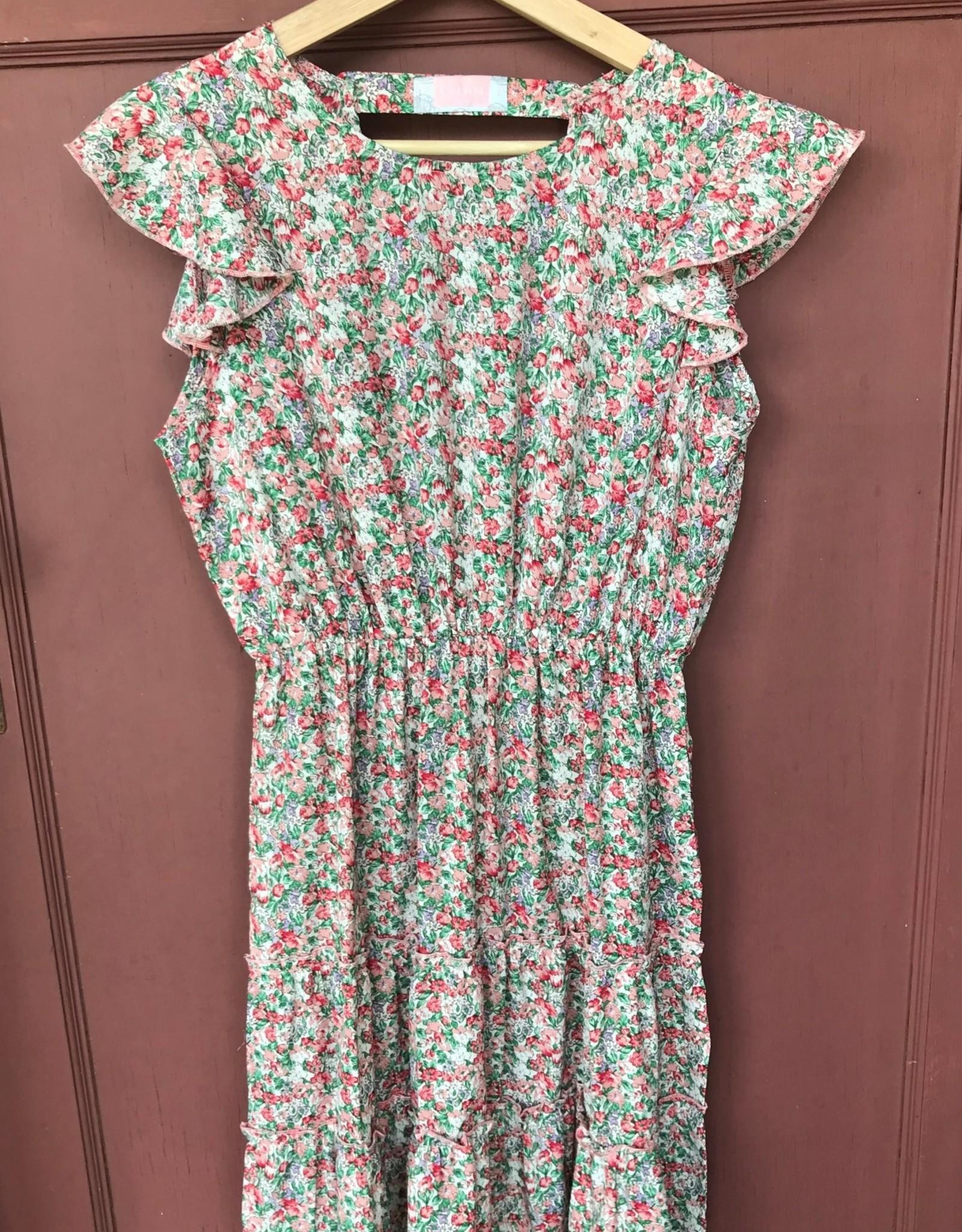 Wink Floral Flutter Sleeve Dress