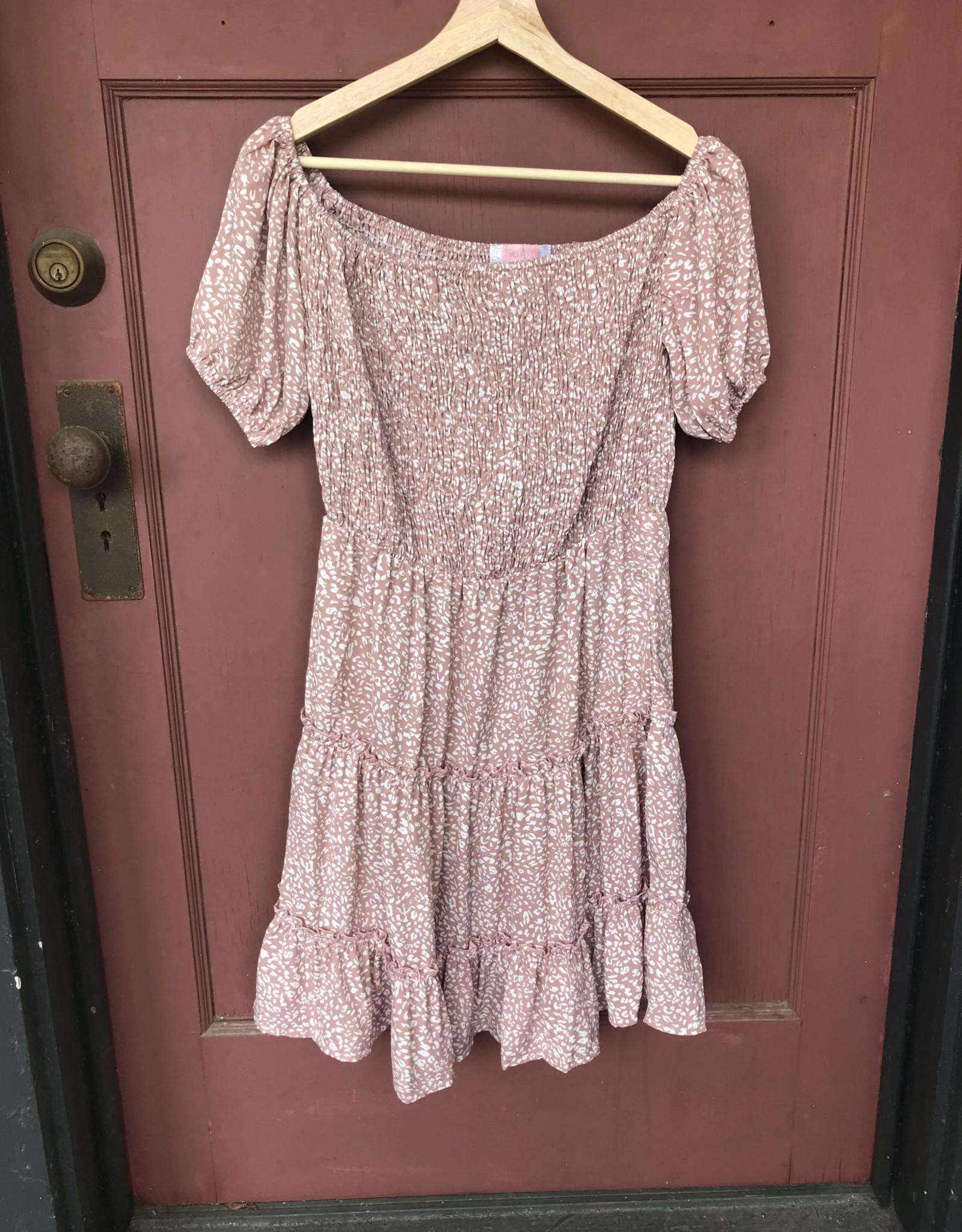 Wink Desert Rose Off The Shoulder Dress