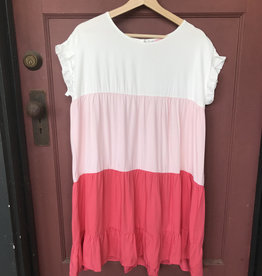 Wink Pink Tiered Babydoll Dress