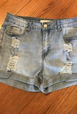 Wink Medium Wash Cuff Shorts