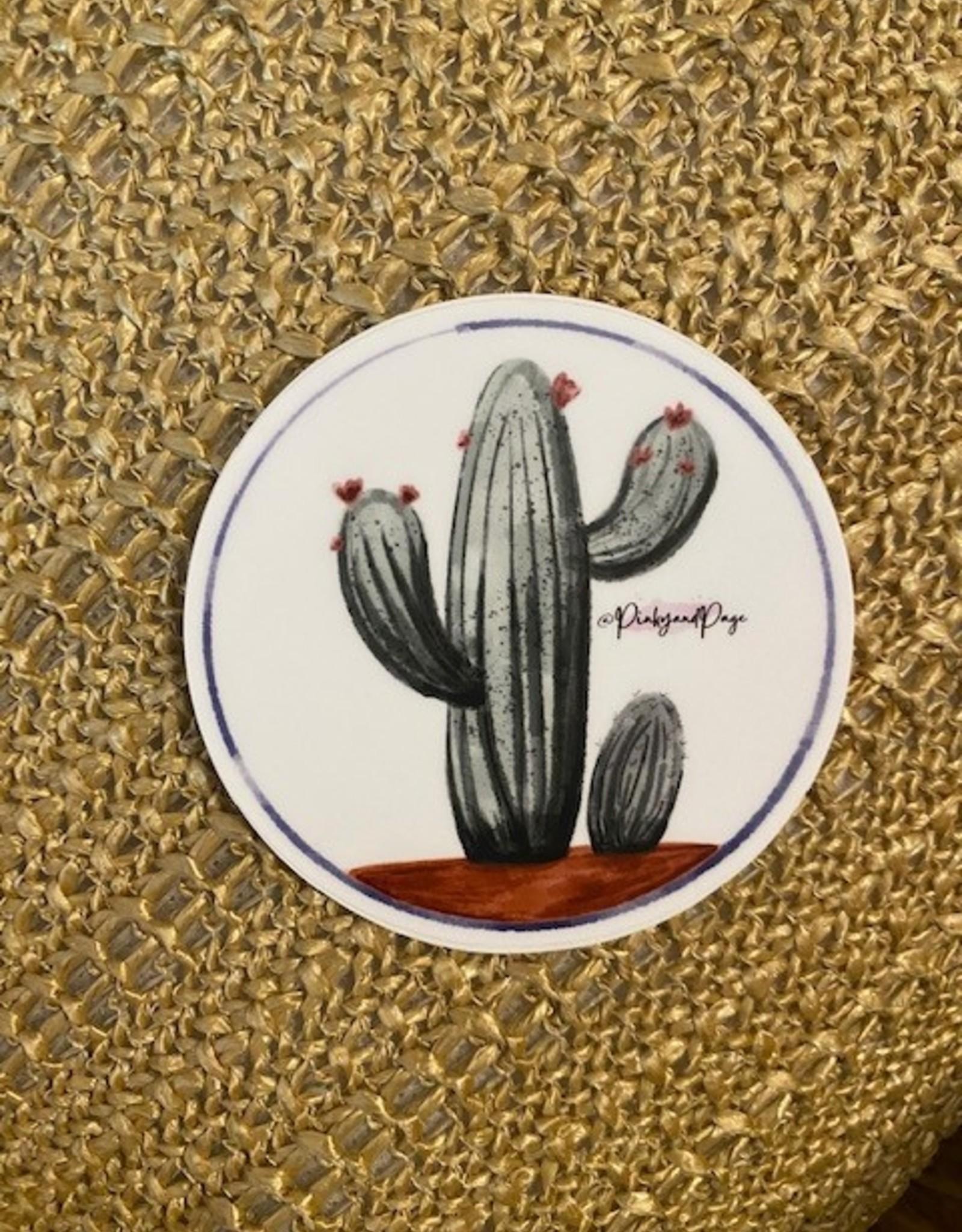 Wink Cactus Sticker