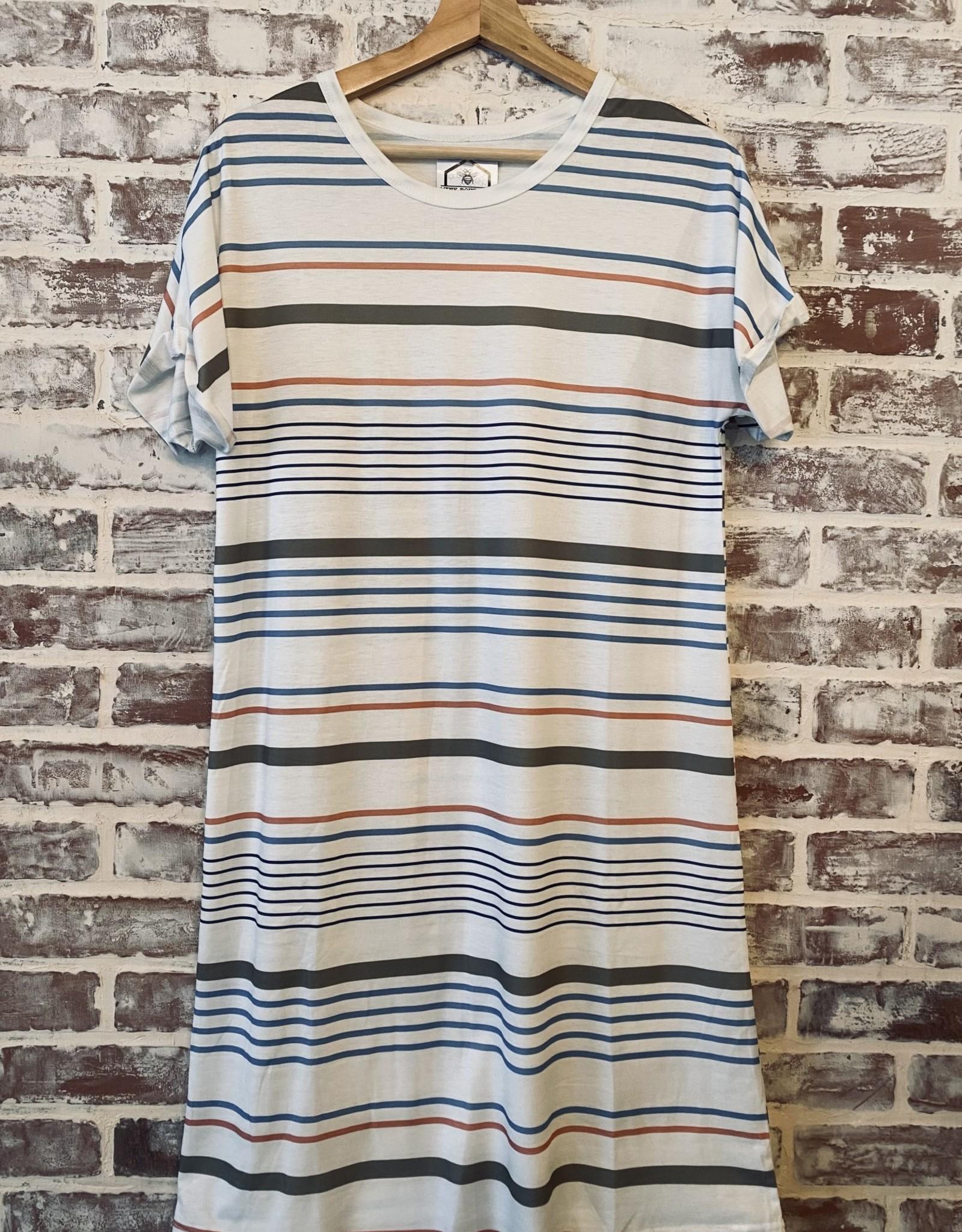 Wink Stripe Tee Dress