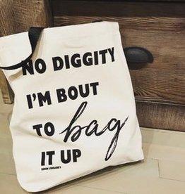 Wink No Diggity Canvas Tote Bag