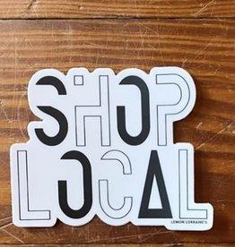 Wink Shop Local Sticker