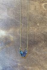 Wink Bridget Abalone Butterfly Necklace
