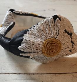 Beaded Sunflower Headband