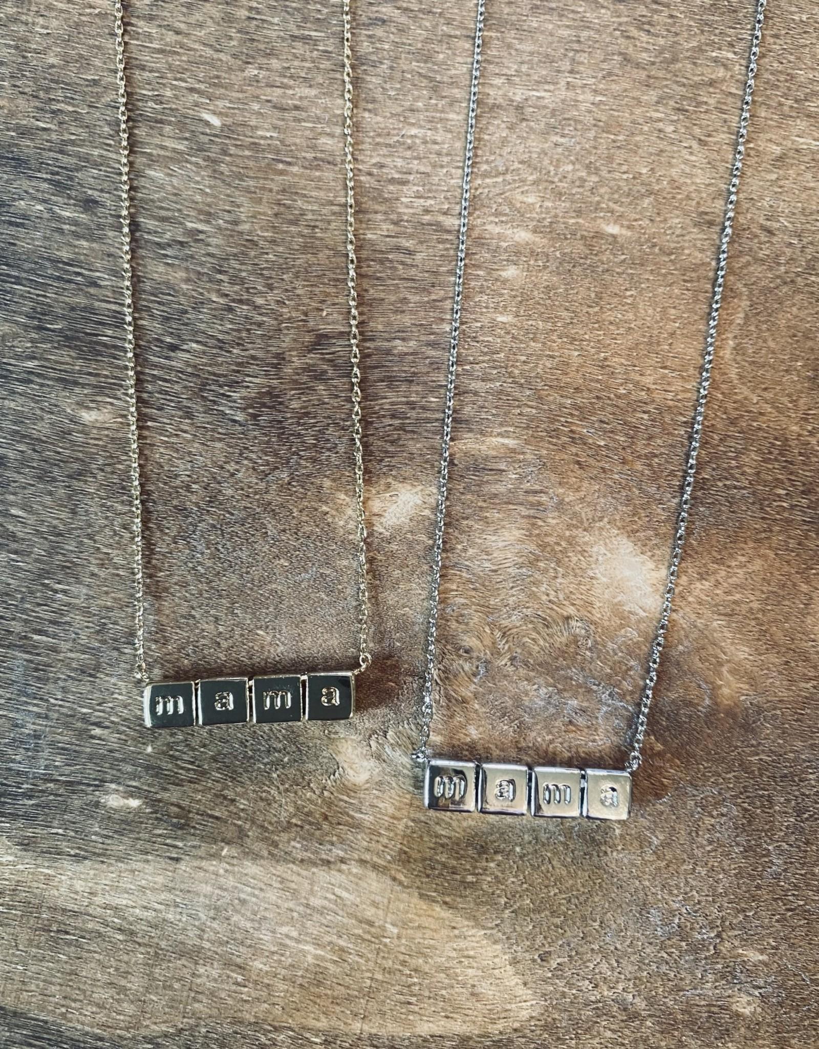 Wink Mama Block Necklace
