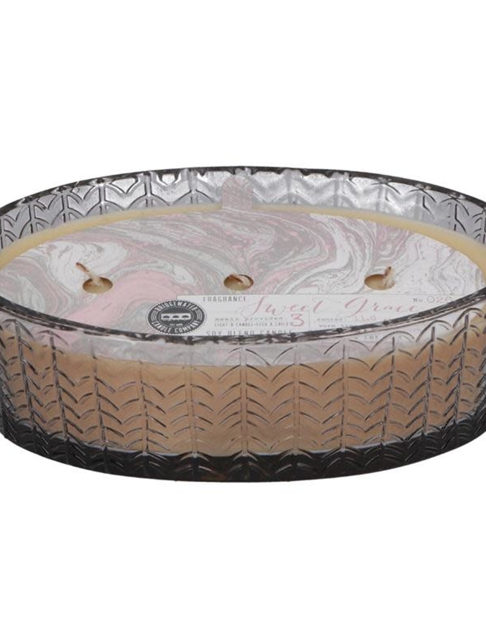 Bridgewater 3 Wick Sweet Grace Candle in Glass Holder